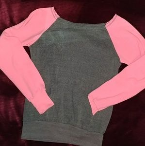 Tops - Pink/Grey crew neck